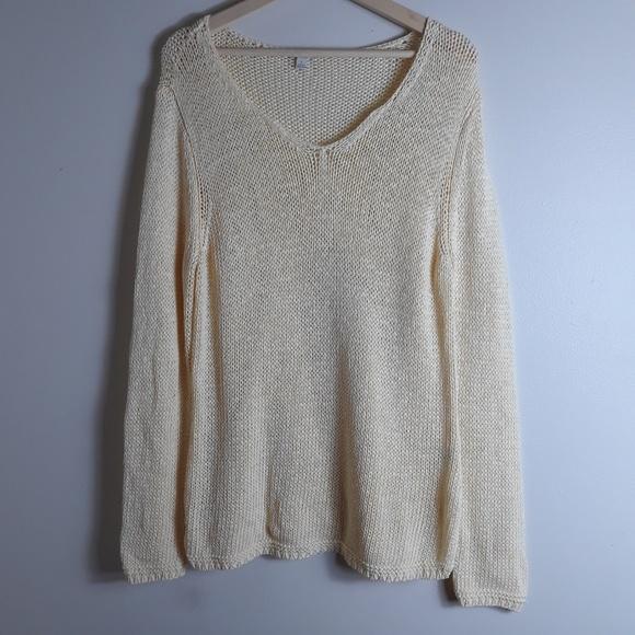 J. Jill Sweaters - J. Jill| Open Knit Layering Popover Sweater